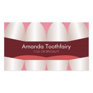Fun Teeth Open Mouth Modern Dentist Business Card