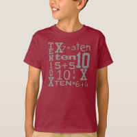 FUN Ten MATH Inspired 10th BIRTHDAY Tee