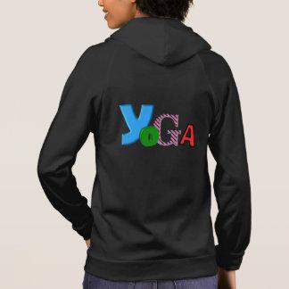 Fun Text Design - Womens Yoga Hoodie Sleeveless