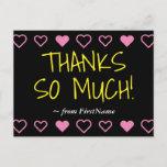"""[ Thumbnail: Fun """"Thanks So Much!"""" + Hearts Postcard ]"""