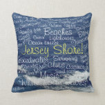 Fun Things to Do at the Jersey Shore Ocean Waves Throw Pillow