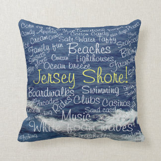 Fun Things to Do at the Jersey Shore Ocean Waves Pillow