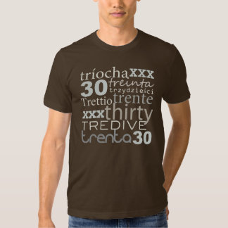 FUN THIRTY 30 around the world BIRTHDAY Tee