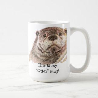 "Fun This is my ""Otter"" Mug, Cute Animal Humor Classic White Coffee Mug"