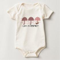 Fun Three Patterned Umbrellas  Fashion Sunglasses Baby Bodysuit