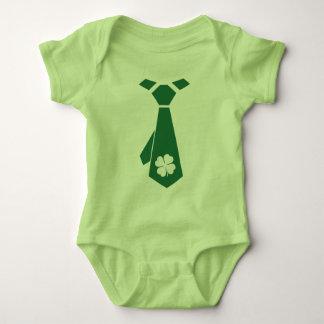 Fun Tie Printed Design St.Patrick's Day Bodysuits