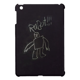 Fun time happy good chalk board Robot iPad Mini Case