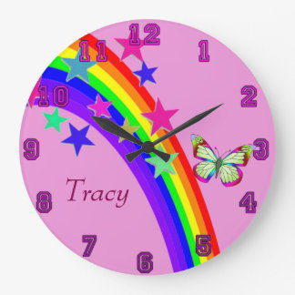 Fun Times Butterfly Large Clock