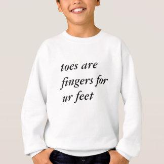 Fun tip about toes sweatshirt