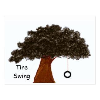 Fun Tire Swings Postcard