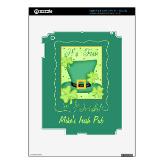 Fun to be Irish Business Promotion Custom Decals For iPad 3