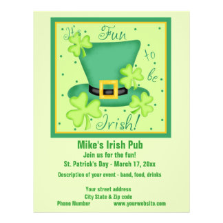 Fun to be Irish Business Promotion Custom Flyer
