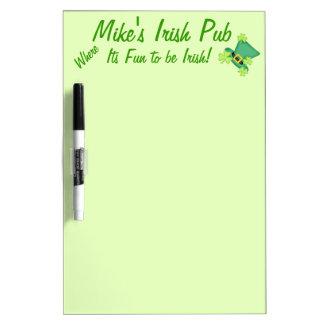 Fun to Be Irish Custom Pub Restaurant Promotion Dry-Erase Board