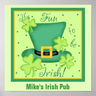 Fun to Be Irish Custom Pub Restaurant Promotion Poster