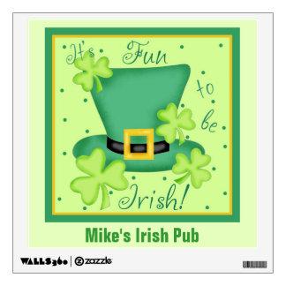 Fun to Be Irish Custom Pub Restaurant Promotion Wall Skins