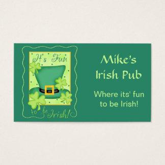 Fun to be Irish Restaurant Pub Organization Business Card