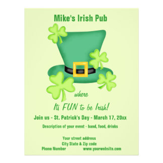 Fun to be Irish St. Patrick's Business Promotion Flyer