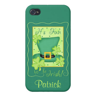 Fun to be Irish St. Patrick's Name Personalized iPhone 4/4S Case