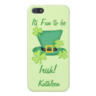 Fun to be Irish St. Patrick's Name Personalized iPhone 5/5S Cases
