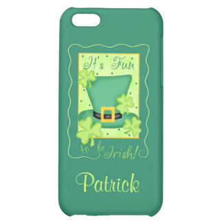 Fun to be Irish St. Patrick's Name Personalized iPhone 5C Covers