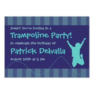 Fun Trampoline Birthday Party Invitations - Boys