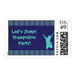 Fun Trampoline Birthday Party Stamps - Boys