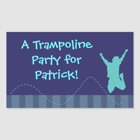 Fun Trampoline Birthday Party Stickers - Boys