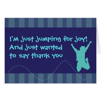 Fun Trampoline Birthday Thank You Cards - Boys