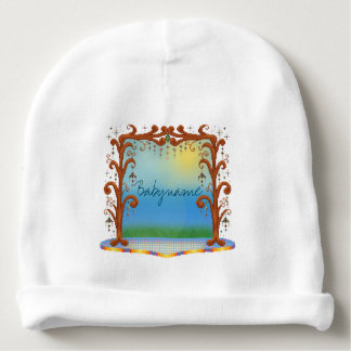 Fun Tree Bower Stage Landscape Personalized Baby Beanie