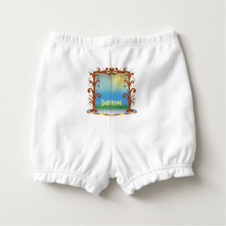 Fun Tree Bower Stage Landscape Personalized Diaper Cover