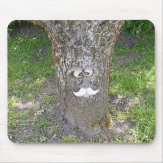 Fun Tree Face Mouse Pad