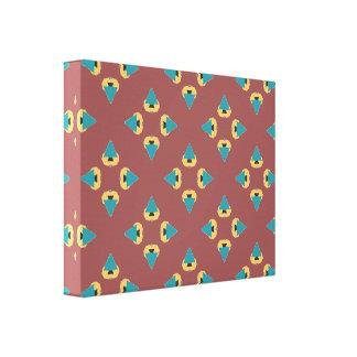 Fun tree geometric design pattern canvas print