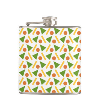 Fun Triangle Circle Rectangle Shapes Pattern Flask