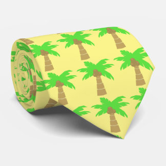 Fun Tropical Beach Palm Trees Custom Color Tie