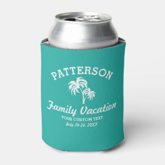 Fun Tropical Palm Tree Retro Summer Beach Travel Can Cooler