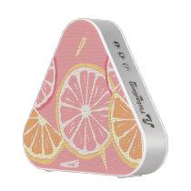 Fun Tropical Pink grapefruit and lemon pattern Speaker