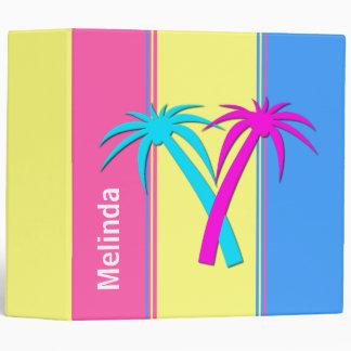 Fun Tropical Striped Binder