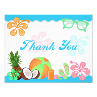 Fun Tropical Thank You Note Cards