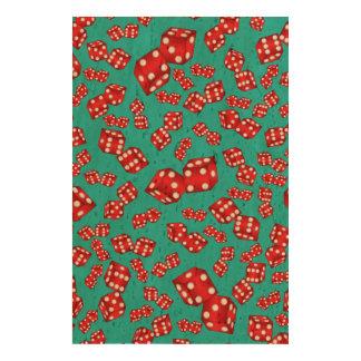 Fun turquoise dice pattern cork paper