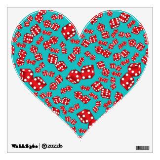 Fun turquoise dice pattern wall skin