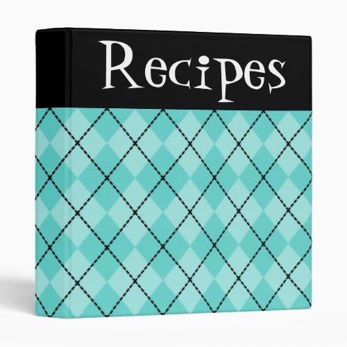 Fun Turquoise Recipe Binder