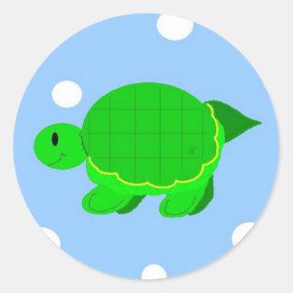 Fun Turtle Classic Round Sticker