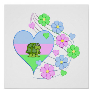 Fun Turtle Heart Poster