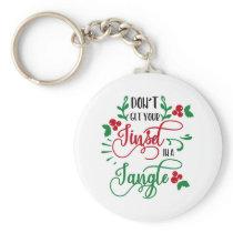 Fun Typography Christmas Keychain