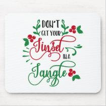 Fun Typography Christmas Mouse Pad