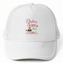 Fun Typography Christmas Trucker Hat
