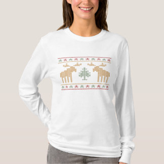 Fun ugly sweater christmas holiday women's t-shirt