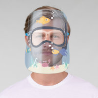 Fun under the sea marine colorful fish diving mask