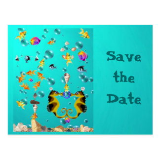 Fun Under the Sea, Save the Date Post Cards