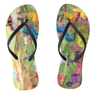 Fun Unicorn Flip Flops Custom Adult, Slim Straps